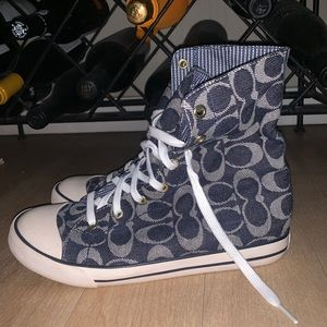 Authentic Coach Logo Hightop Sneakers